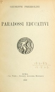 Cover of: Paradossi educativi