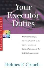 Cover of: Your executor duties