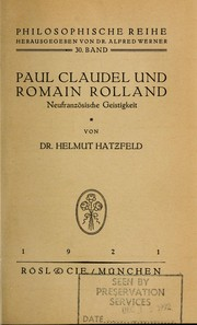 Cover of: Paul Claudel und Romain Rolland