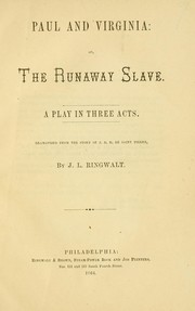 Cover of: Paul and Virginia: or, The runaway slave