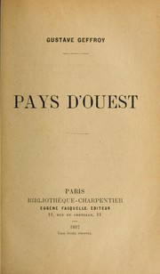 Cover of: Pays d'ouest