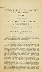Cover of: Peace through victory ..