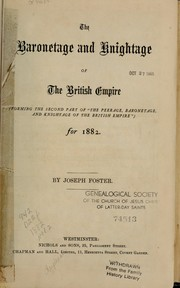 Cover of: The peerage, baronetage, and knightage of the British Empire