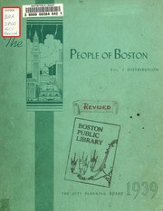 Cover of: The people of Boston | Boston (Mass.). City Planning Board