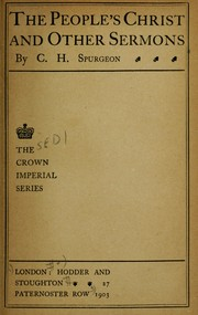 Cover of: The people's Christ and other sermons