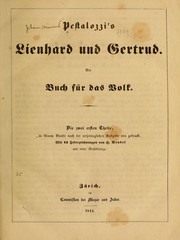Cover of: Pestalozzi's Lienhard und Gertrud