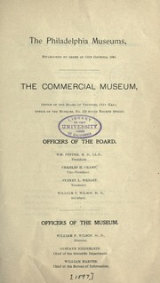 Cover of: The Philadelphia museums