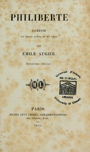 Cover of: Philiberte