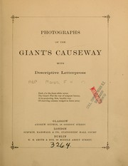 Cover of: Photographs of the Giant's Causeway, with descriptive letters