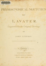 Cover of: Physiognomical sketches by Lavater