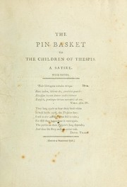 Cover of: The pin-basket to the children of Thespis. | Anthony Pasquin