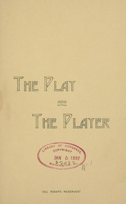 Cover of: The play and the player | John] [from old catalog Sheppman
