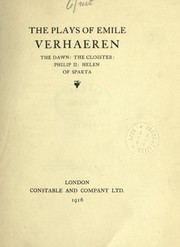 Cover of: The plays of Emile Verhaeren
