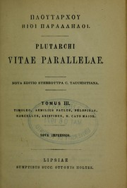Cover of: Vitae parallelae