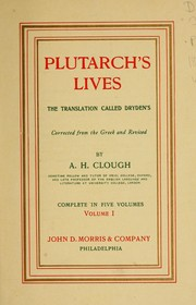 Cover of: Plutarch's Lives