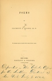 Cover of: Poems by Clement Clarke Moore