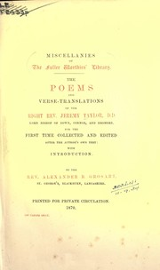 Cover of: Poems and verse translations