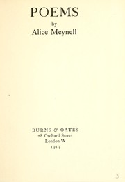 Cover of: Poems by Alice Meynell