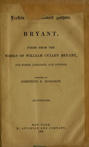 Cover of: Poems from the works of William Cullen Bryant