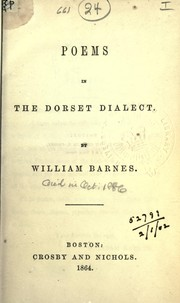 Cover of: Poems in the Dorset dialect
