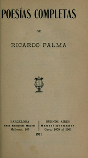 Cover of: Poesias completas de Ricardo Palms