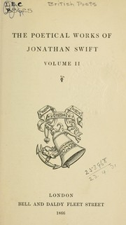 Poetical works by Jonathan Swift