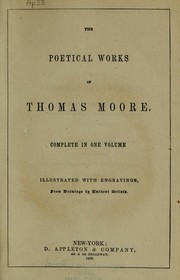 Cover of: The poetical works of Thomas Moore