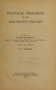 Cover of: Political progress in the nineteenth century | Thomas MacKnight