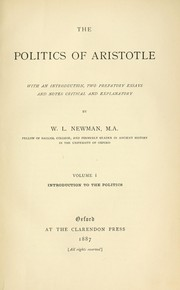 Cover of: The Politics of Aristotle |
