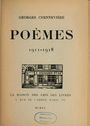 Cover of: Poèmes, 1911-1918