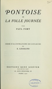 Cover of: Pontoise, ou, La folle journée
