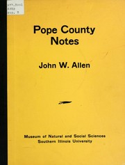 Cover of: Pope County notes