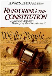 Cover of: Restoring the Constitution, 1787-1987