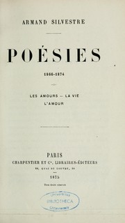Cover of: Poésies, 1866-1874