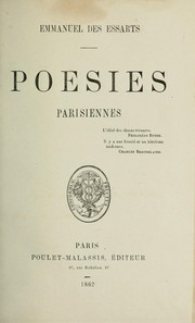 Cover of: Poésies parisiennes