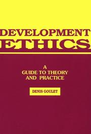 Cover of: Development ethics
