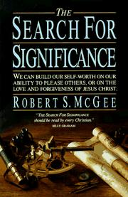 Cover of: The search for significance book