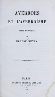 Cover of: Averroes et l'averroïsme