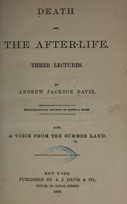 Cover of: Death and the after-life