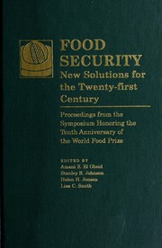 Cover of: Food security | edited by Amani E. El Obeid ... [et al.]