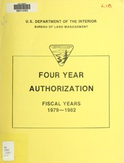 Cover of: Four year authorization, fiscal years 1979-1982