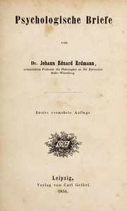 Cover of: Psychologische briefe