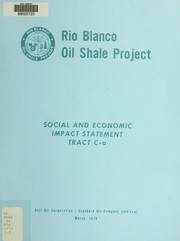 Cover of: Social and economic impact statement for tract C-a