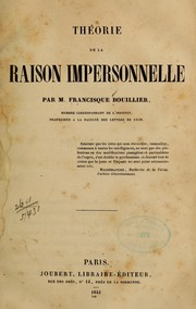 Cover of: Théorie de la raison impersonnelle
