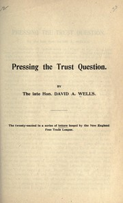 Cover of: Pressing the trust question
