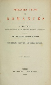 Cover of: Primavera y flor de romances
