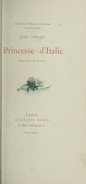 Cover of: Princesse d'Italie