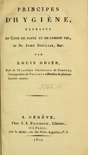Cover of: Principes d'hygiène