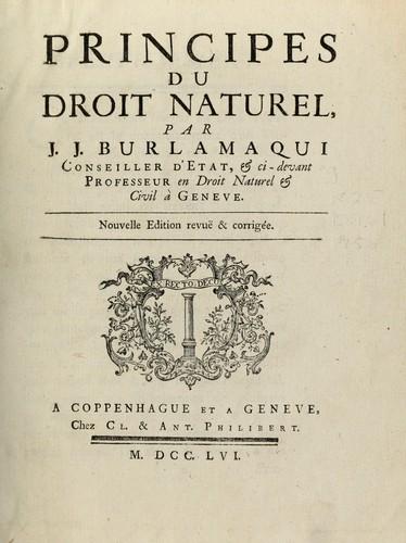 Principes du droit naturel