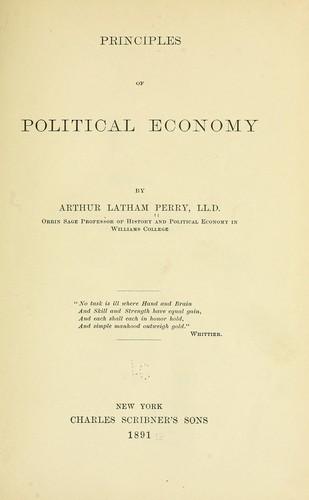 Principles of political economy.